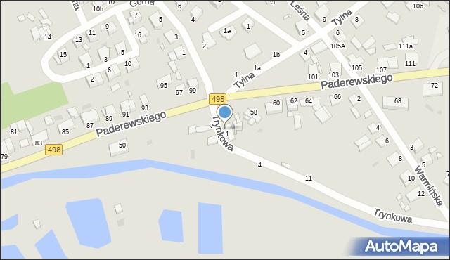Grudziądz, Trynkowa, 1a, mapa Grudziądza