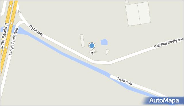 Grudziądz, Trynkowa, 25, mapa Grudziądza