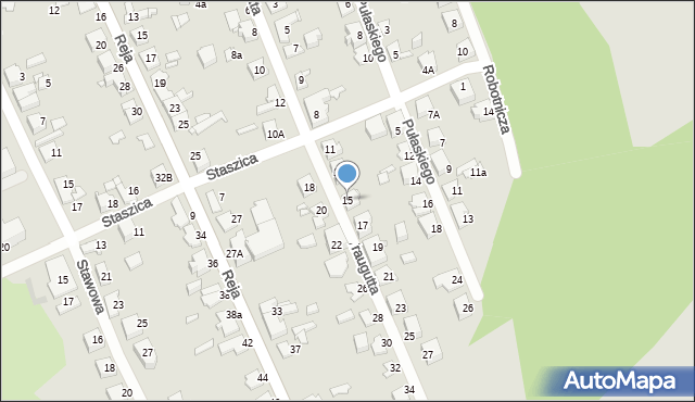 Jaworzno, Traugutta Romualda, gen., 15, mapa Jaworzno