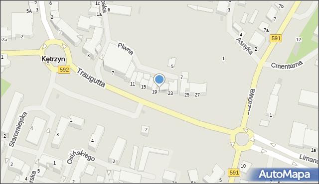 Kętrzyn, Traugutta Romualda, gen., 21, mapa Kętrzyn