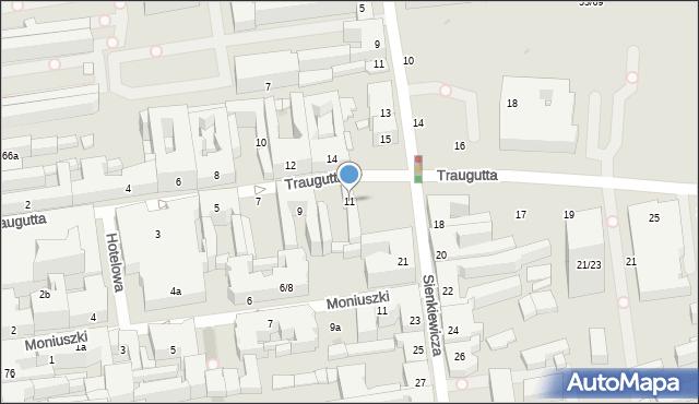 Łódź, Traugutta Romualda, gen., 11, mapa Łodzi