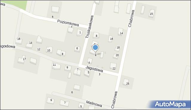 Luzino, Truskawkowa, 4, mapa Luzino