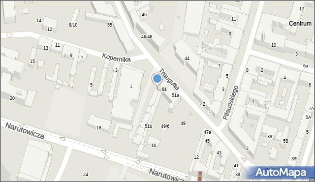 Radom, Traugutta Romualda, gen., 53, mapa Radomia