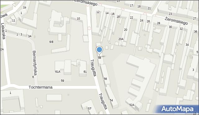 Radom, Traugutta Romualda, gen., 58, mapa Radomia