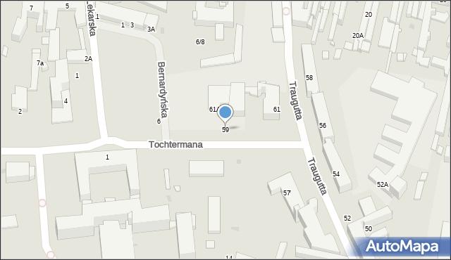 Radom, Traugutta Romualda, gen., 59, mapa Radomia