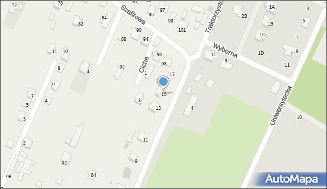 Wacyn, Traktorzystów, 15, mapa Wacyn