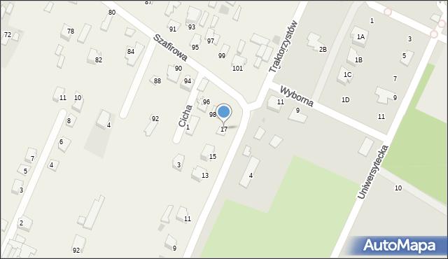 Wacyn, Traktorzystów, 17, mapa Wacyn