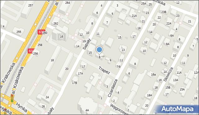 Warszawa, Trapez, 6, mapa Warszawy