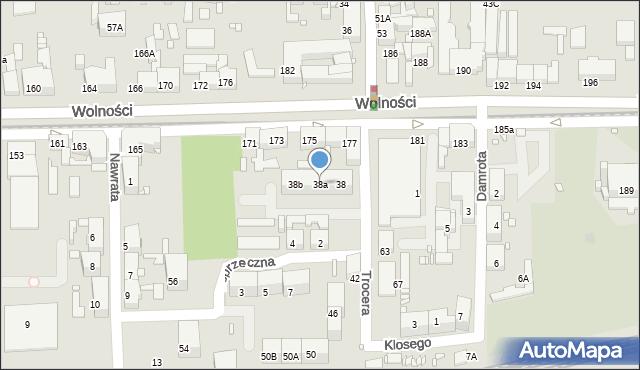 Zabrze, Trocera Dionizego, 38a, mapa Zabrza