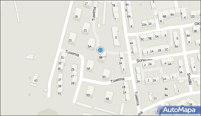 Bytom, Tuwima Juliana, 5B, mapa Bytomia