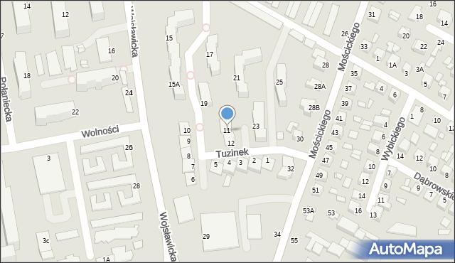 Chełm, Tuzinek, 11, mapa Chełma