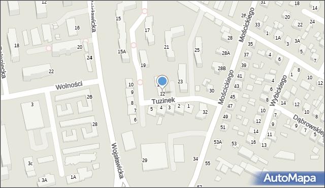 Chełm, Tuzinek, 12, mapa Chełma
