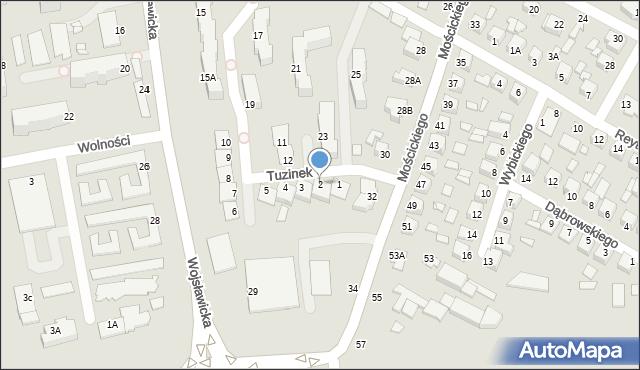 Chełm, Tuzinek, 2, mapa Chełma