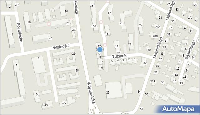 Chełm, Tuzinek, 8, mapa Chełma
