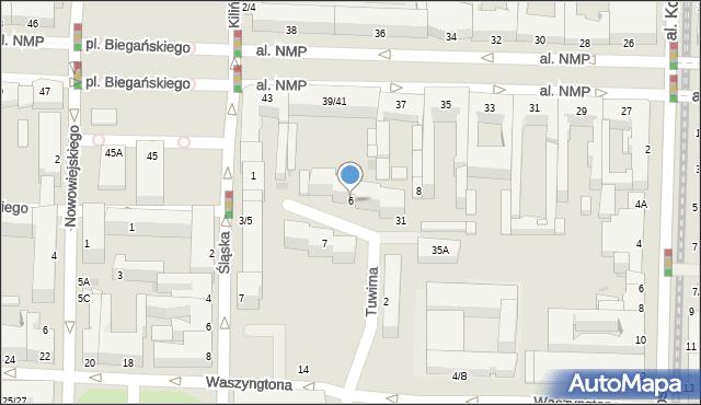 Częstochowa, Tuwima Juliana, 6, mapa Częstochowy