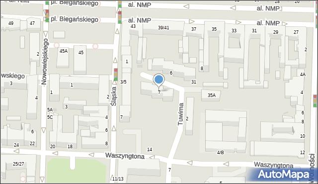 Częstochowa, Tuwima Juliana, 7, mapa Częstochowy