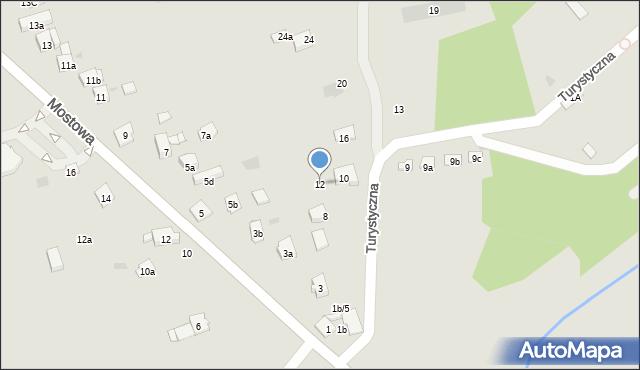 Dobczyce, Turystyczna, 12, mapa Dobczyce