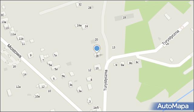 Dobczyce, Turystyczna, 16, mapa Dobczyce