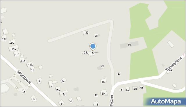 Dobczyce, Turystyczna, 24, mapa Dobczyce