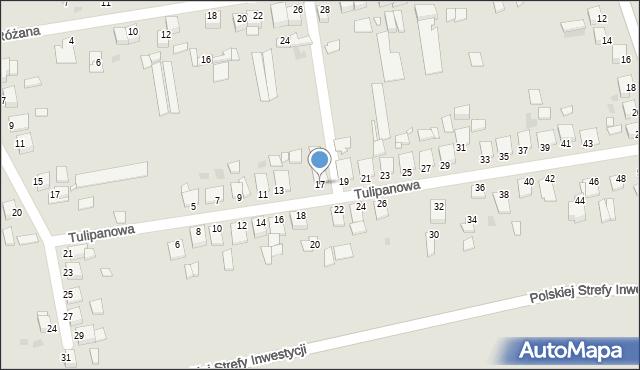 Grudziądz, Tulipanowa, 17, mapa Grudziądza