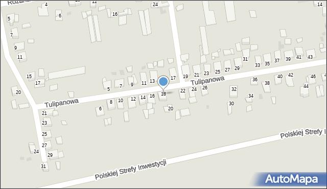 Grudziądz, Tulipanowa, 18, mapa Grudziądza