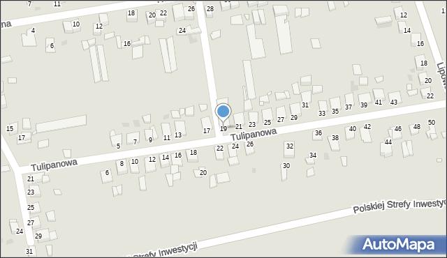 Grudziądz, Tulipanowa, 19, mapa Grudziądza