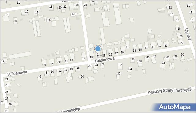 Grudziądz, Tulipanowa, 21, mapa Grudziądza
