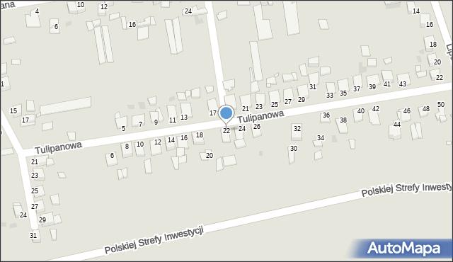 Grudziądz, Tulipanowa, 22, mapa Grudziądza