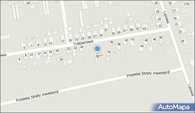 Grudziądz, Tulipanowa, 30, mapa Grudziądza
