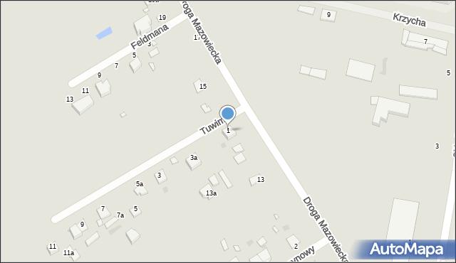 Grudziądz, Tuwima Juliana, 1, mapa Grudziądza