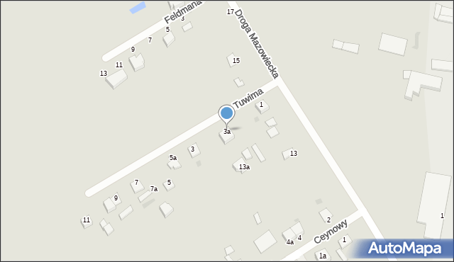 Grudziądz, Tuwima Juliana, 3a, mapa Grudziądza