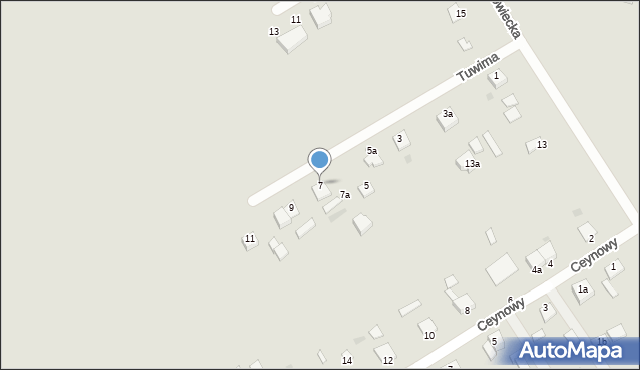 Grudziądz, Tuwima Juliana, 7, mapa Grudziądza
