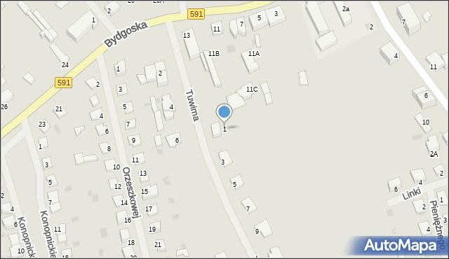 Kętrzyn, Tuwima Juliana, 1, mapa Kętrzyn