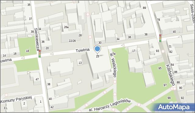 Łódź, Tuwima Juliana, 15, mapa Łodzi