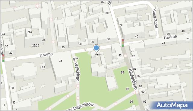 Łódź, Tuwima Juliana, 17, mapa Łodzi