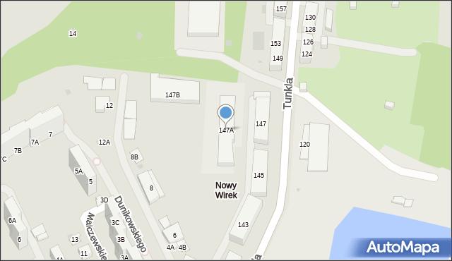 Ruda Śląska, Tunkla Ludwika, ks., 147A, mapa Rudy Śląskiej