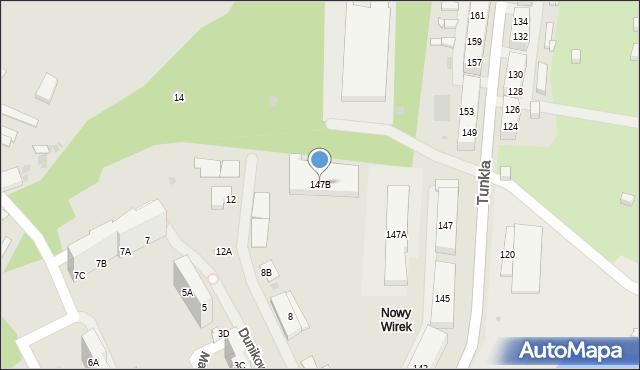 Ruda Śląska, Tunkla Ludwika, ks., 147B, mapa Rudy Śląskiej