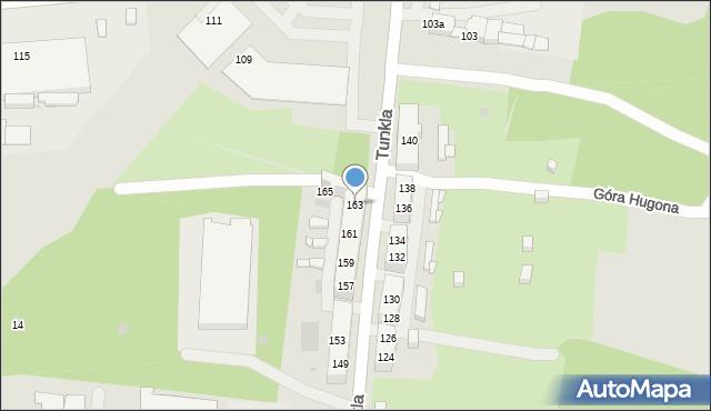 Ruda Śląska, Tunkla Ludwika, ks., 163, mapa Rudy Śląskiej