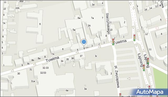 Słupsk, Tuwima Juliana, 4, mapa Słupska