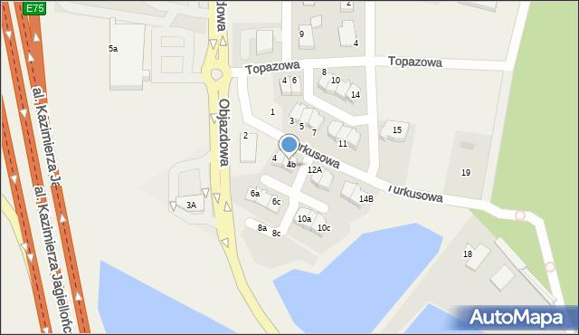 Straszyn, Turkusowa, 6, mapa Straszyn