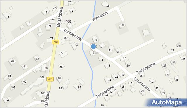 Sułkowice, Turystyczna, 4, mapa Sułkowice