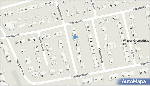Toruń, Tulipanowa, 16, mapa Torunia