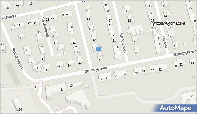 Toruń, Tulipanowa, 4, mapa Torunia