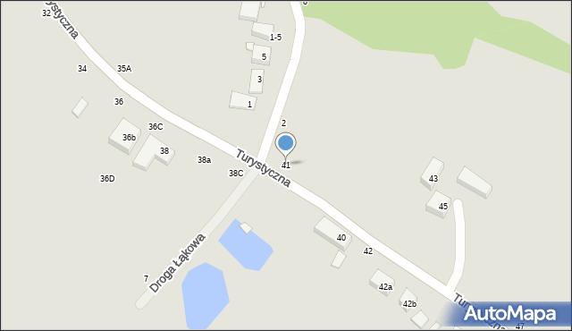 Toruń, Turystyczna, 41, mapa Torunia