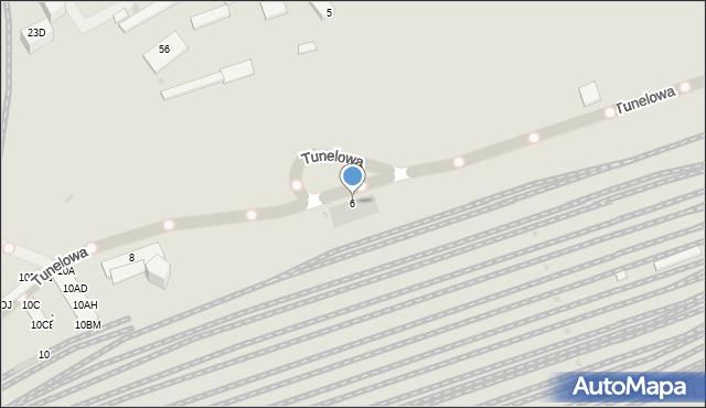 Warszawa, Tunelowa, 6, mapa Warszawy