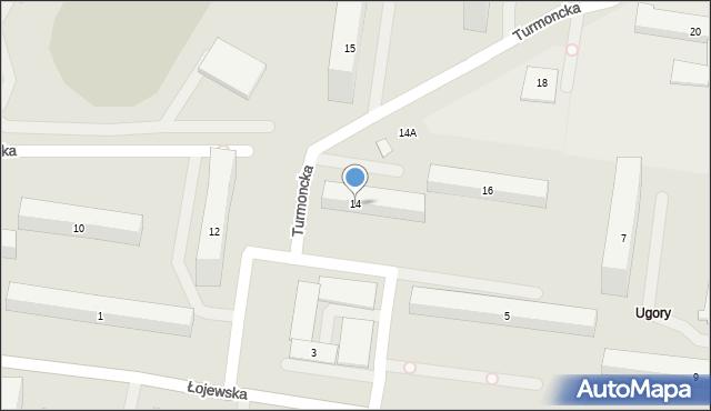 Warszawa, Turmoncka, 14, mapa Warszawy