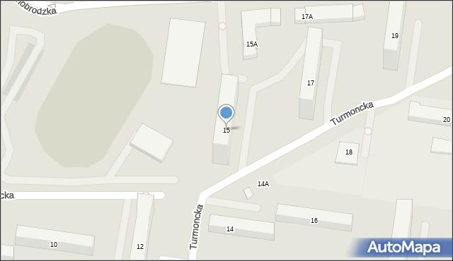 Warszawa, Turmoncka, 15, mapa Warszawy
