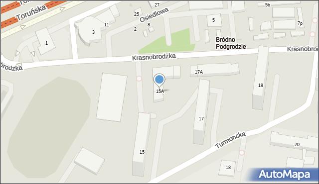 Warszawa, Turmoncka, 15A, mapa Warszawy