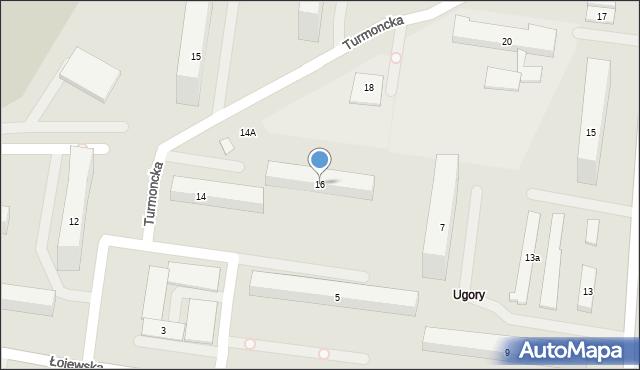 Warszawa, Turmoncka, 16, mapa Warszawy