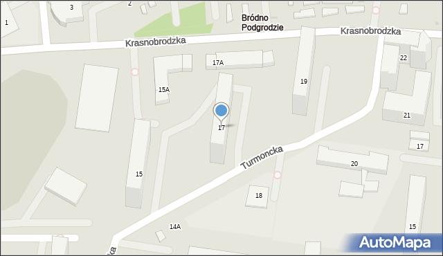 Warszawa, Turmoncka, 17, mapa Warszawy